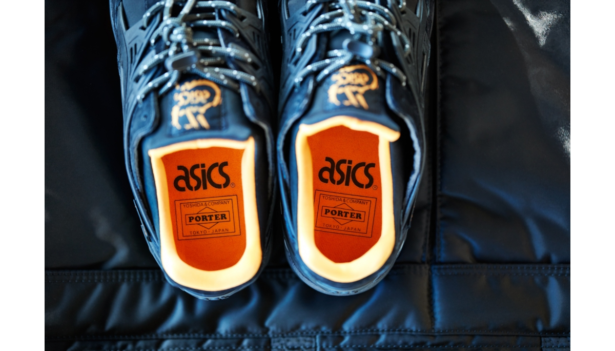 ASICS TigerXPORTER_THAT BLACK NYLON_內襯以Porter包款經典橙色點綴。